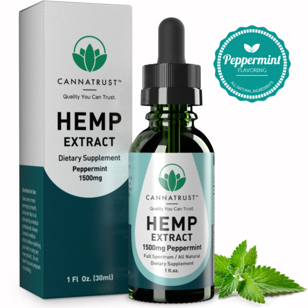 CannaTrust Full Spectrum All Natural Hemp Extract – Peppermint Flavor
