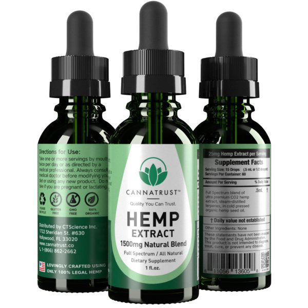 CannaTrust Full Spectrum All Natural Hemp Extract